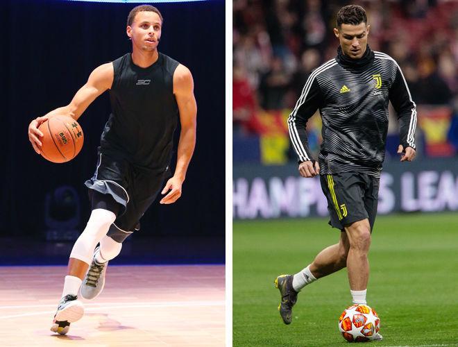 Фигуры футболиста и баскетболиста