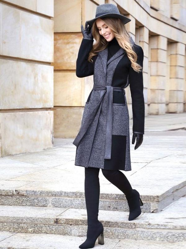 Почему бы не примерить серую шляпу с пальто?