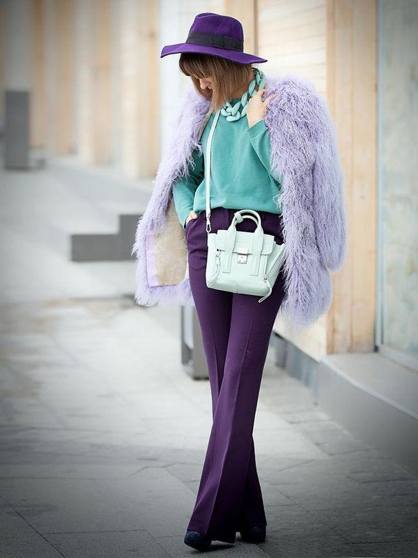 Фиолетовая шляпка для роковой соблазнительницы