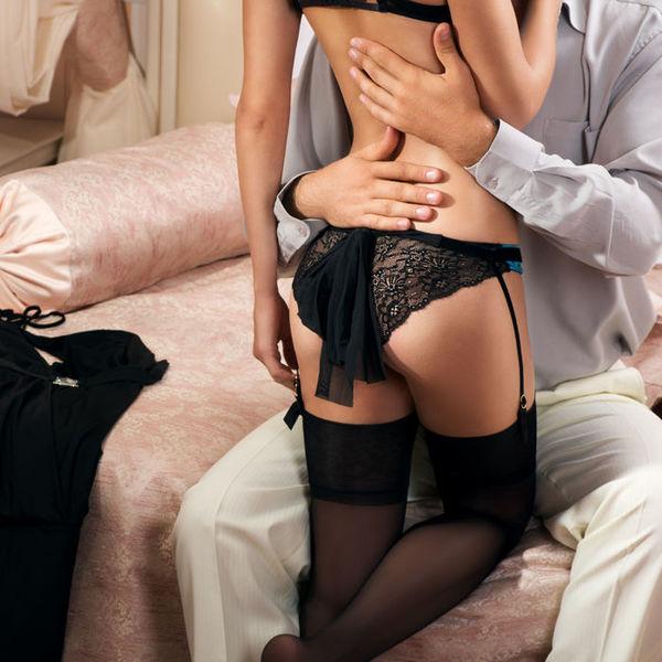 Женщина в кружевном белье нижние белье женское на девушках